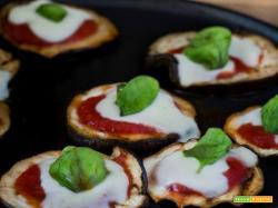 Pizzette di melanzane – Cottura senza forno