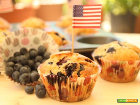 Blueberry muffin per l'Independence Day