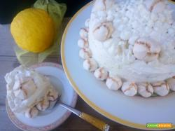 Angel cake senza glutine al limone