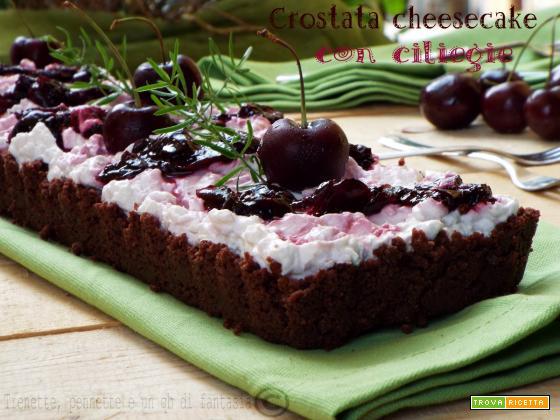 Crostata cheesecake con ciliegie…senza cottura