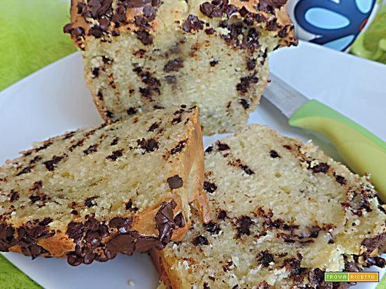 Plumcake philadelphia e gocce di cioccolato