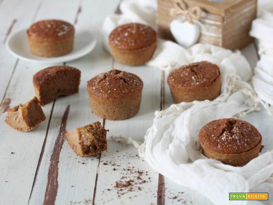 Muffin solo albumi al cacao e pera