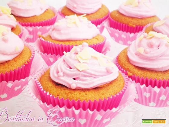 Pink cupcake al lampone