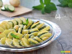 Patate e zucchine light gratinate