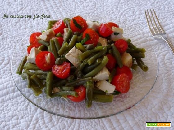 Insalata di pollo e fagiolini – ricetta riciclo