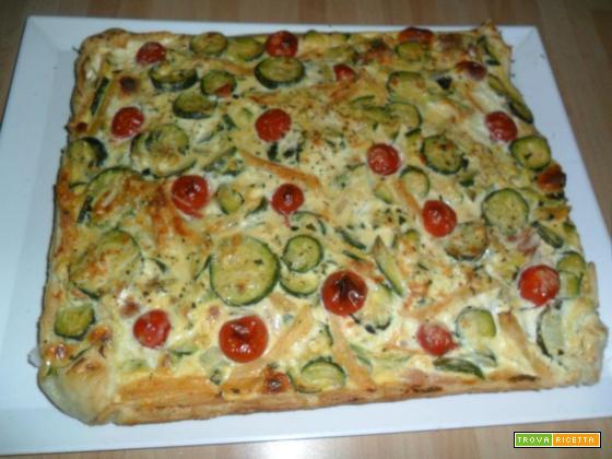 Crostata di zucchine,prosciutto e ricotta