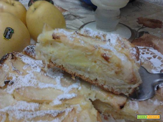 TORTA DI MELE E CREMA PASTICCERA