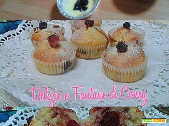 Maffin con confettura di frutti di bosco