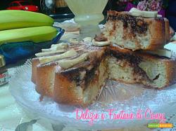 torta girasole con banana e nutella