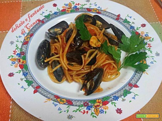 Spaghetti con cozze di scoglio