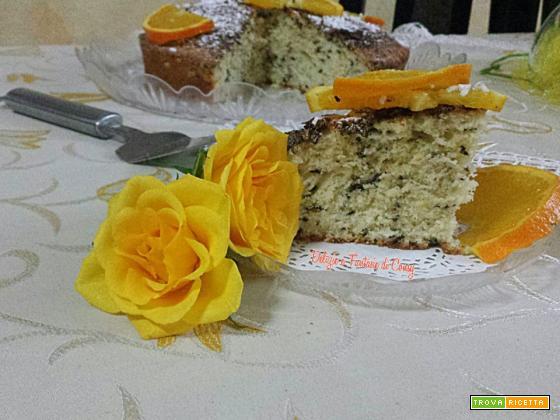 Torta arancia banana e cioccolato