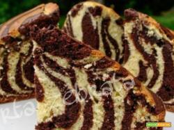Torta zebrata con yogurt