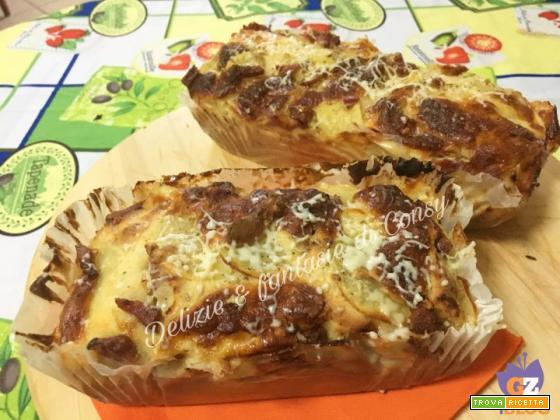 Plumcake rusticone salame scamorza e patate