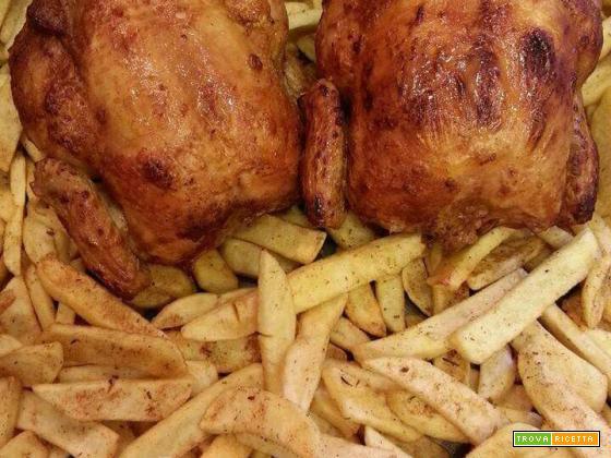 Galletto ruspante con patate