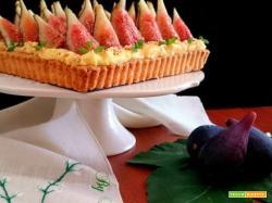 Crostata con fichi e crema pasticcera
