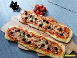 Pizza schiacciata saporita