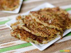 Frittelle vegane di patate e zucchine