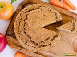 Torta di carote con scarti della centrifuga