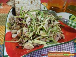 Coniglio in insalata zucchine e pesto