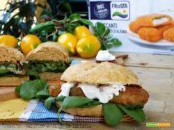 Panini al limone con croccanti di merluzzo agli spinaci
