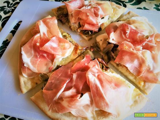 Pizza bufala carciofi crudo