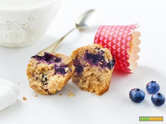 muffin al limone e mirtilli alla menta