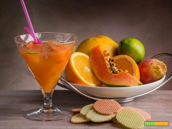 Succo estivo con arance, pompelmo e papaya : una sferzata di energia e benessere
