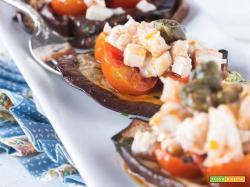Ragù di pesce spada, pomodorini e melanzana