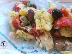 Insalata di merluzzo mediterranea (cotture con friggitrice ad aria)