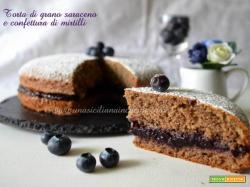 Torta di grano saraceno e confettura mirtilli