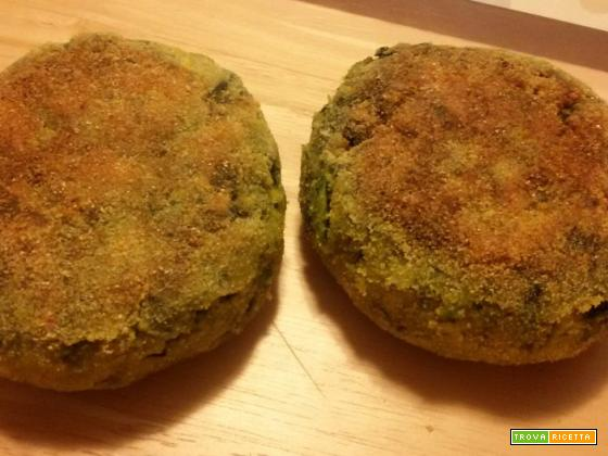Burger di spinaci ripieni