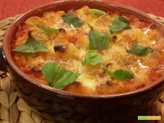 Gnocchi pomodoro e bufala gratinati al forno