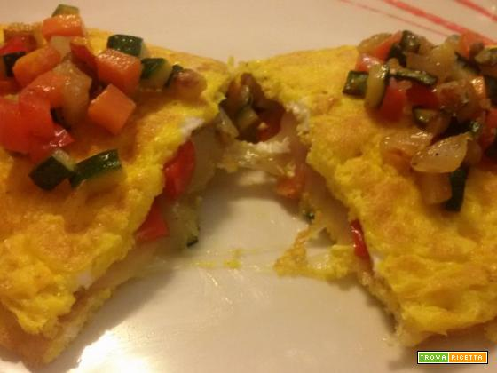 Omelette alle verdure e provolone