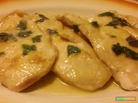 Scaloppine di pollo al lime, zenzero e menta fresca