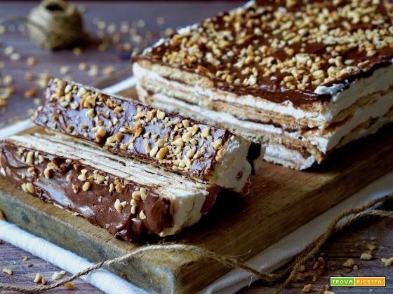 Semifreddo di Biscotti al Mascarpone e Nutella
