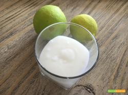 Sorbetto al lime – senza gelatiera