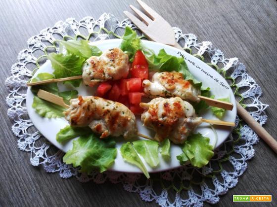 Rotolini di pollo marinati