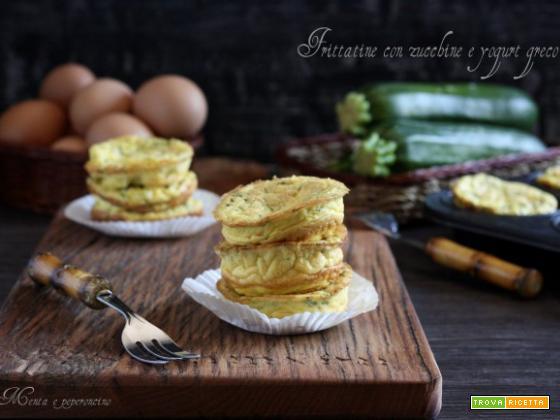Frittatine con zucchine e yogurt greco