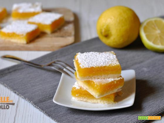 Lemon bars – Quadrotti al limone