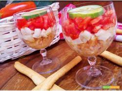 Caprese di pomodoro e mozzarella al cucchiaio