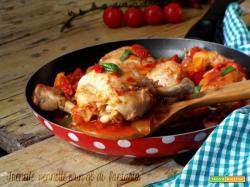 Pollo con i peperoni |ricetta romana