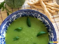 Vellutata zucchine, sedano e menta – proviamola tiepida!