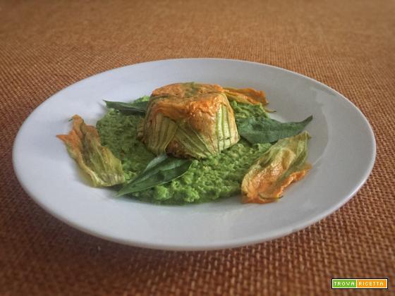 Tortini di fiori di zucchina