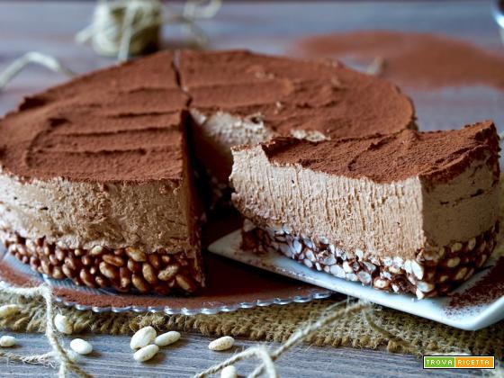 Torta Fredda al Riso Soffiato e Nutella