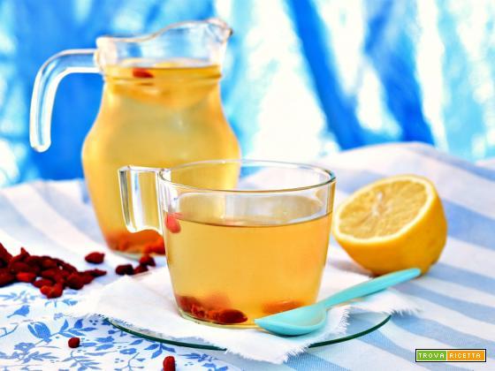 Infuso di tè verde e bacche di Goji