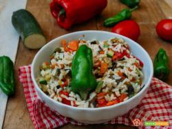 Insalata di riso alle verdure