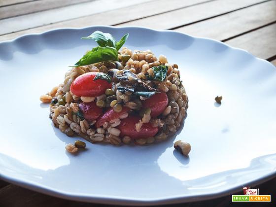 insalata fredda di cereali e legumi