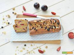 Plumcake rustico alle prugne con muesli alla frutta
