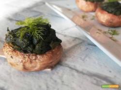 Funghi ripieni agli spinaci
