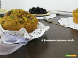 Muffin al latte di cocco, curcuma e more